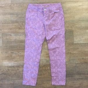 American Rag purple brocade skinny pants